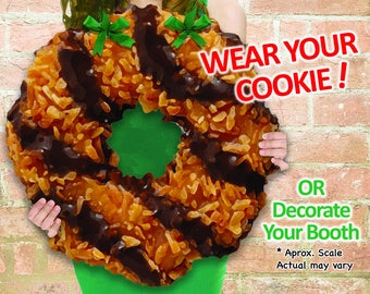 """WEAR Your COOKIE! Girl Scout """"Caramel deLites"""" Cookies Booth Poster Decoration PRINTABLE Sign 19x19"""" Large"""
