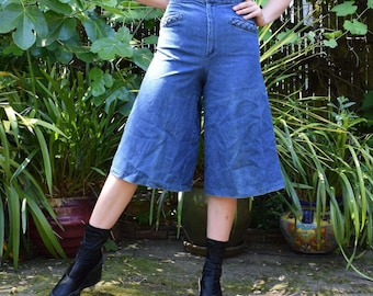 60's Denim Braided Pocket Coulottes