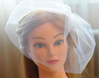 Wedding veil Blusher veil white ivory veil vintage style birdcage veil tulle veil wedding headpiece ivory birdcage veil
