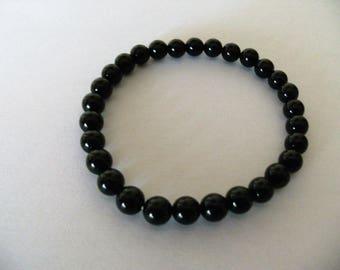 Bracelet balls in black agate, present for him, Father's Day, Mother's Day, bracelet man, bracelet black agate, jewels man, black agate