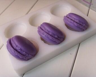 6-Cavity Half Macaron Soap Mold Flexible Silicone Soap Mold Tools