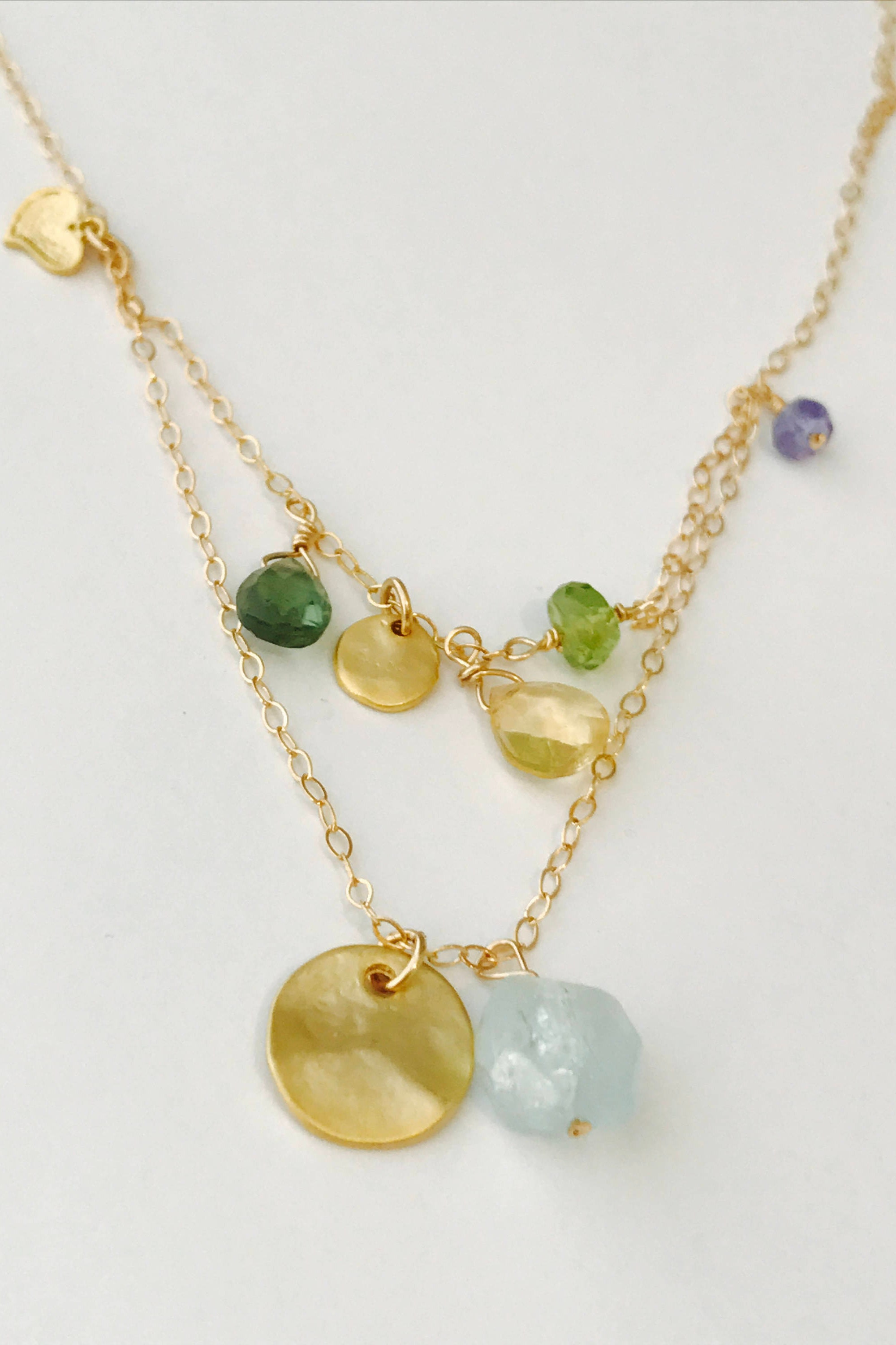 tw and in gold tanzanite necklace yellow white diamonds with