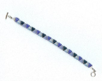 2121 Shades of Blue Crystal Bracelet