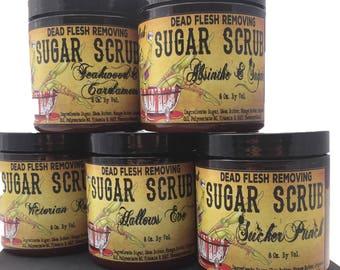 Teakwood and Cardamom vegan Sugar Scrub body scrub