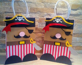 Pirate Goody Bags/ Pirate Theme Birthday/Pirates Party Bags