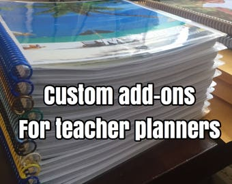 Teacher Plan Book Add-Ons