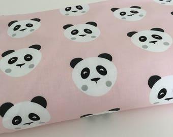 Pink Panda Fabric
