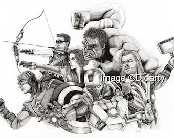Marvel Avengers Portrait Print