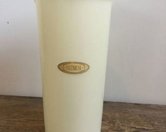 Tupperware Oatmeal Handolier Container White Kitchen Storage Canister