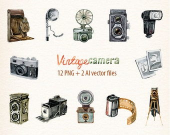 Camera Vintage Vector Png : Camera frame etsy