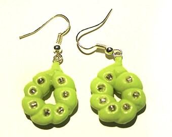 Polymer Clay Green Earrings