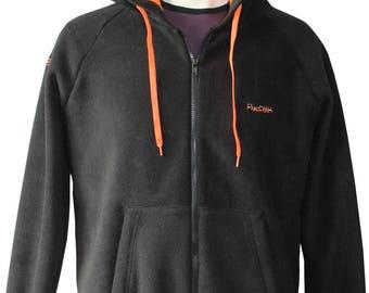 Hooded jacket in soft fleece with customizable Kangaroo Pocket