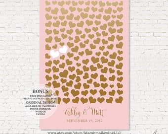 Wedding Guest Book Sign Wedding Signs, Wedding Gift Sweetheart Guest Book Canvas Faux Chalkboard Guestbook Sign Guest Book Alternative Ideas