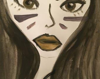 Tribal Girl Painting