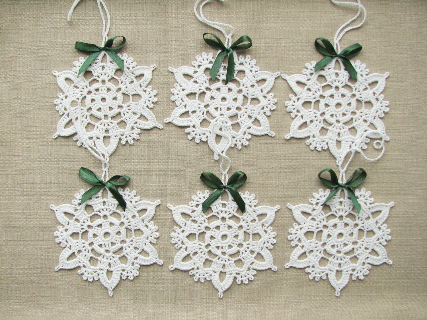 Snowflakes crochet Christmas decors Xmas tree ornaments