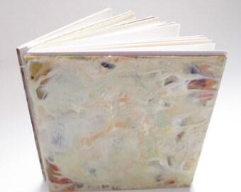 Handmade Sketchbook, altered art journal, encaustic journal, blank journal, one of a kind, abstract art book