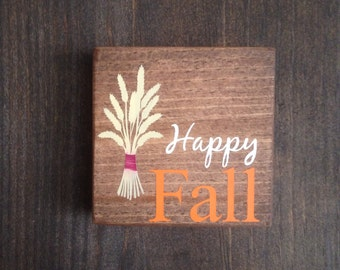 Happy Fall mini wood sign - Fall Wood Sign - Happy Fall sign - Fall Decor - Autumn Decor