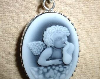 Angel cameo Silver 925 pendant