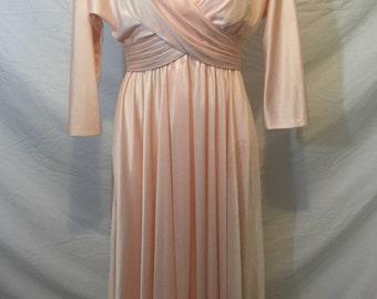 Vintage peachy pink dress 1960's or 70's