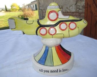 Carlton Ware Beatles Yellow Submarine Flat Back Model - Limited Edition - 18/100 Ceramic HandPainted Read Description for Postage in Euros
