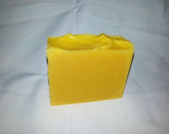 Fresh PAPAYA with CHIA Seed Oil unscented natural handmade soap