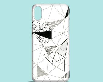 Shapes phone case / triangle iPhone X, iPhone 8, iPhone 7, abstract iPhone 7 Plus , iPhone SE, iPhone 6S, iPhone 6, iPhone 5/5s