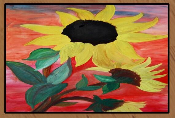 20 Ounce Loop Sunflower Area Rug by maremade