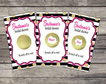Scratch Off Game Cards (10 card ct.) - Bridal Shower, Birthday, Baby Shower Party Favor Games