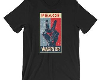 Retro Peace Signs Peace Warrior T-Shirts AntiWar Movement
