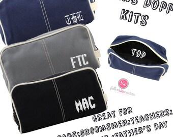 Men's Toiletry Bag , Dopp Kit , personalized Men's travel Bag , Groomsman Gift , Groomsmen gift bag, embroidered gifts