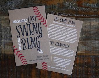 Bachelorette Party Invitation - Last Swing Before the Ring - Customizable Invite - Hen Party Invitation