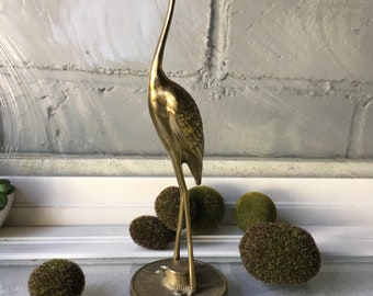 Vintage Metal Brass Sea Bird Made in Korea