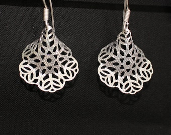 Silver Filigree Earrings-1.5 inches!