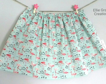 Girls skirt, Toddler Skirt, Baby Skirt, Twirl Skirt, Children's Skirt, Flamingo Skirt, Age 3 years