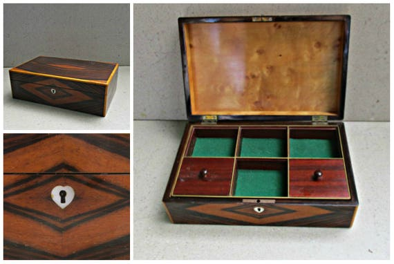 Danish jewelry box vintage jewelry case vintage wooden