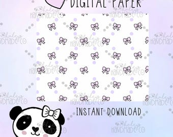 Pink Bow DIGITAL PAPER
