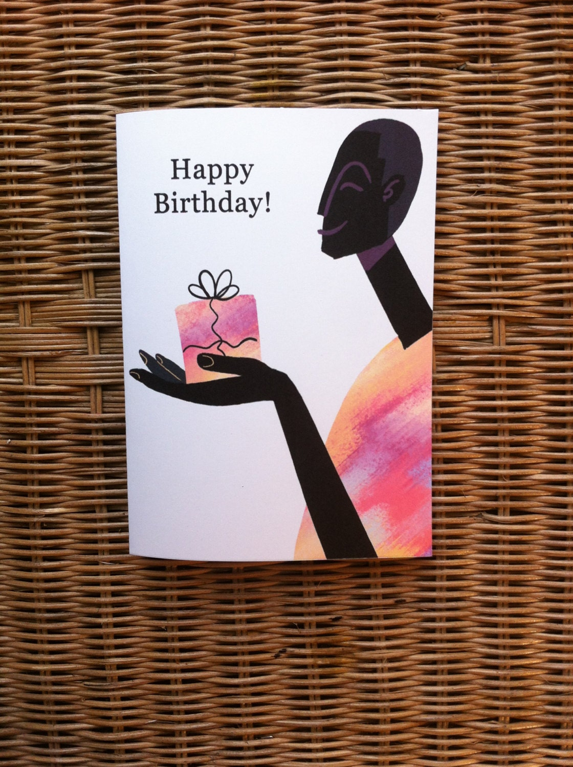 African american greeting card afrocentric greeting card zoom kristyandbryce Choice Image