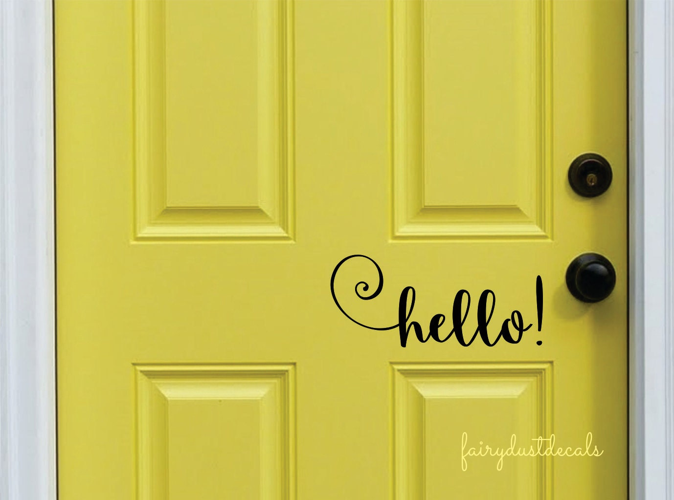 Attractive Hello Decal Front Door Greeting Wall Decal Vinyl Lettering KY13