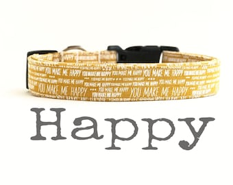 Happy Dog Collar, DOG COLLARS, The HaPPY, Dog Collar, You Are My SuNSHiNe, Boy Dog Collar, Dog Collars for Boys, Girl Dog Collar