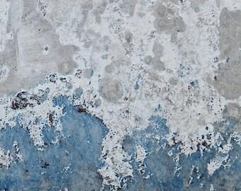 White & Blue Abstract Photography, Blue Industrial Art, Urban Decay, Grey Blue Modern Art Print, Large Minimalist Art, Blue Abstract Art