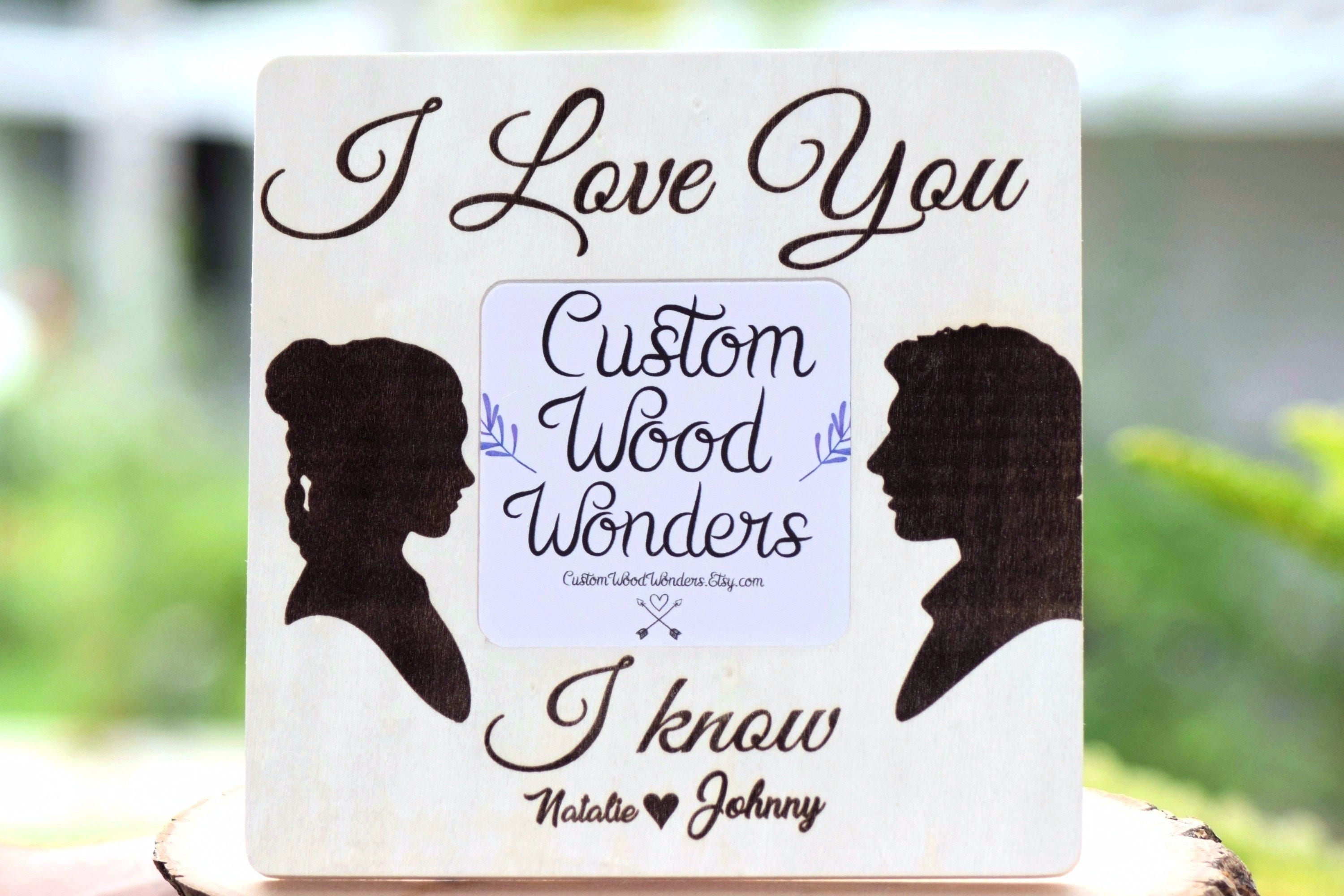 I Love You Know Star Wars Picture Frame Wedding