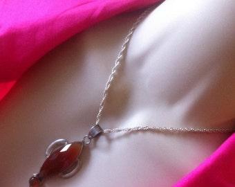 Carnelian Pendant Necklace Orange Gemstone Necklace Statement large Orange Artisan Pendant 925 Sterling Silver bezel set  Carnelian Necklace