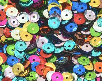 Mixed sequins 7 mm at least 200 in different colors