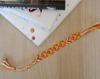 ethnic cotton multicolored bookmark