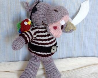 Pirate Hippo Knitting Pattern