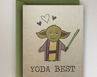 Yoda Best Valentines Day Card