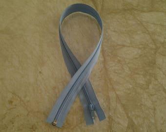 His detachable 50 cm length blue zipper