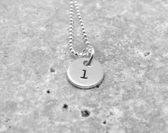 Initial Necklace, Tiny Letter l Necklace, Initial Pendant, Charm Necklace, Sterling Silver Jewelry, Initial Charm, l, All Letters, Initials