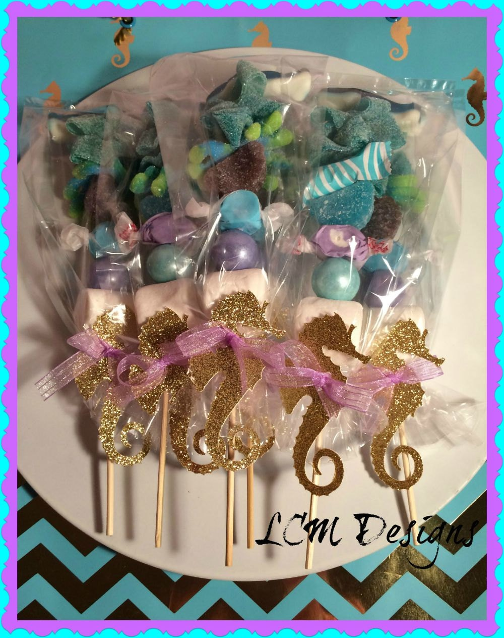 Seahorse Kabobs Under the Sea Little Mermaid Candy