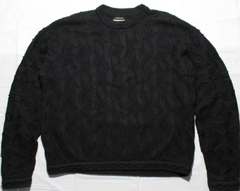 authentic COOGI knit sweater Black men's SIZE L made in Australia